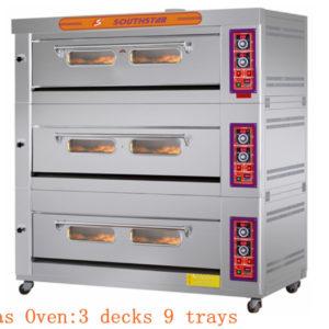 Lò Nướng Bánh 3 Tầng 9 Khay Gas YXY-90A