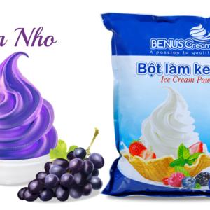 Bột làm kem Benuscream vị Nho