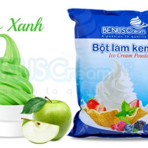 Bột làm kem Benuscream vị Táo xanh