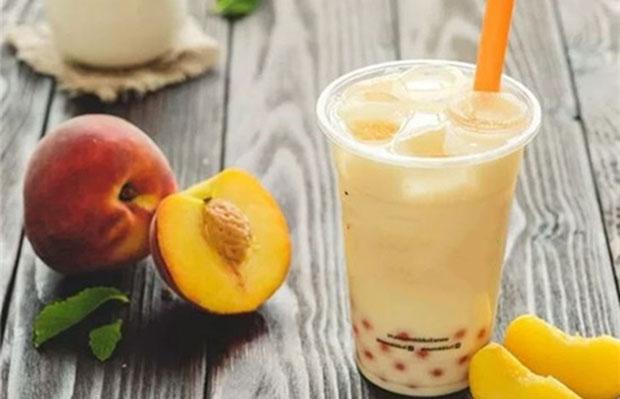Image result for trà sữa đào