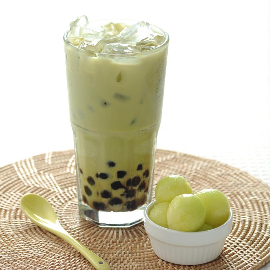 Image result for trà sữa dưa lưới