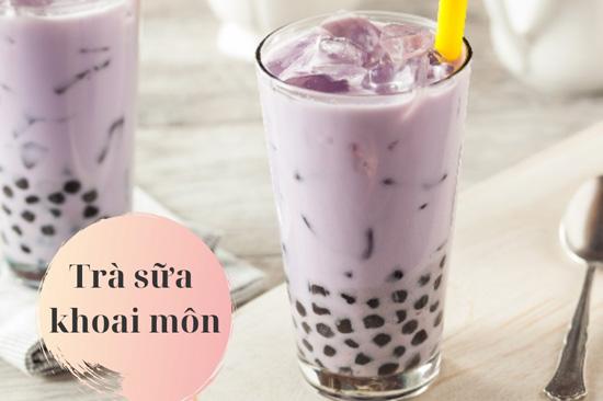 Image result for trà sữa khoai môn